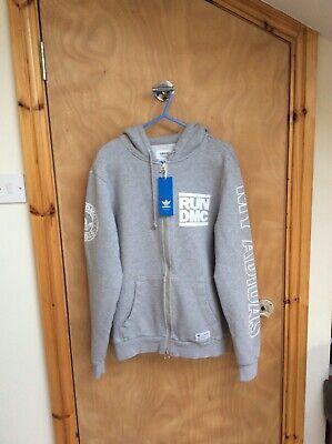 Adidas Run DMC hoody Grey SMALL USED Genuine Official VGC & Black Bottoms BNWT