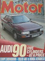 Motor Magazine 4/7/1987 Featuring Audi Road Test, Volvo, Honda, Isuzu Trooper - motor - ebay.co.uk
