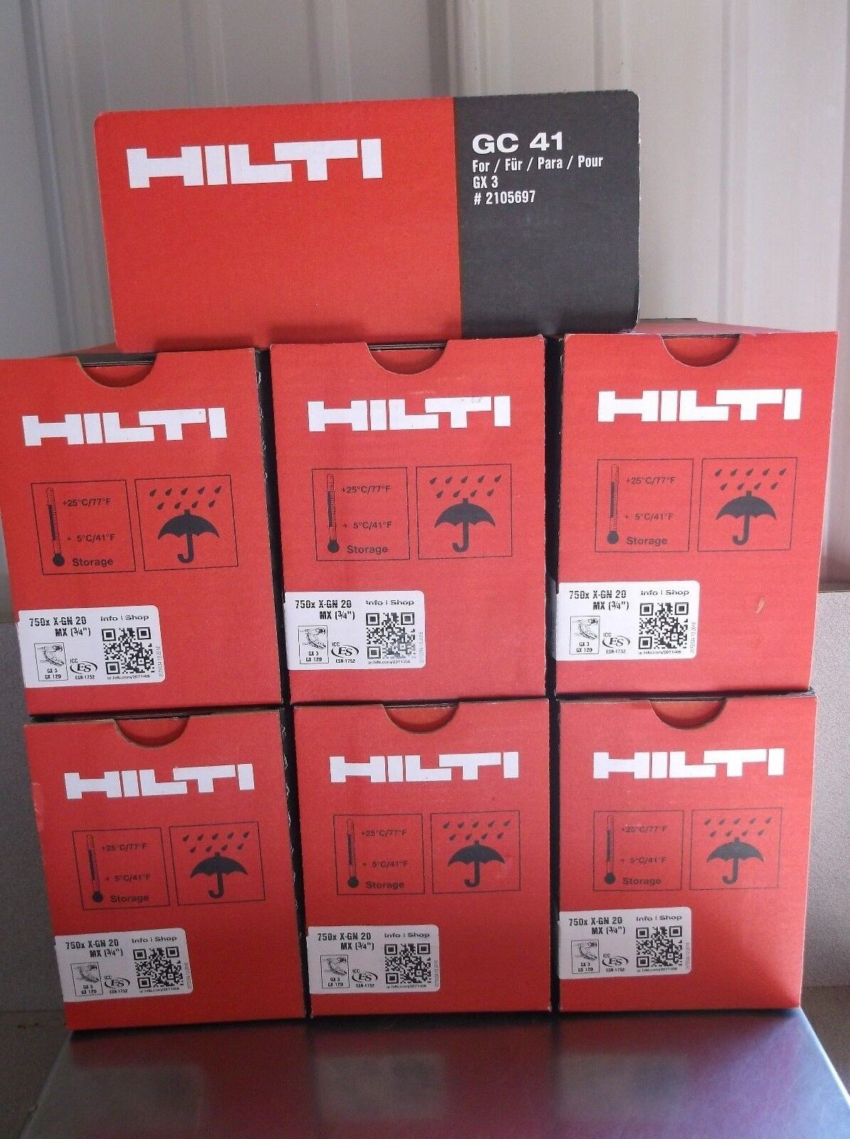 Hilti Gx 3 Pins Fuel Cells 4500 3/4 Pins 6 New Gc 41 Fuel Cells X-gn 20mx - $435.00