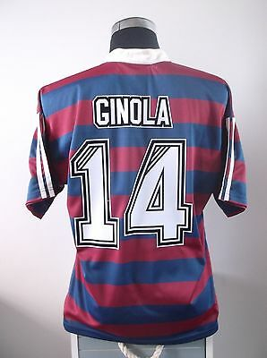 David GINOLA #14 Newcastle United Away Football Shirt Jersey 1995/96 (L)