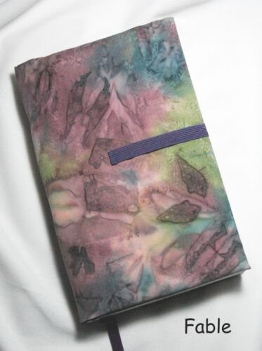 """8 x 5 """"  Book Cover   Your Choice of Fabric Print.  Adjustable.  Handmade in USA"""
