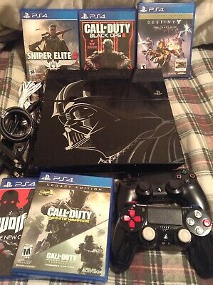 Sony PlayStation 4 PS4 500GB Console Star Wars Darth Vader Edition With Games