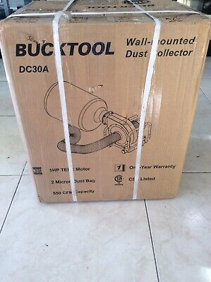 Bucktool 1hp 6.5amp Wall-mount Dust Collector With 550cfm Air Flow