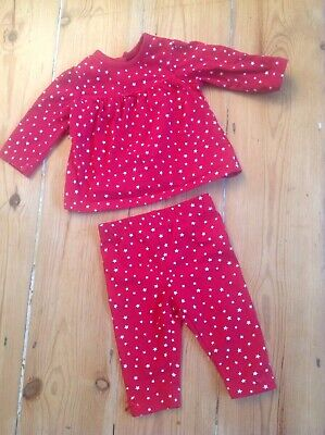 George Red White Stars Baby Girl Outfit - 0-3 Months, usado comprar usado  Enviando para Brazil