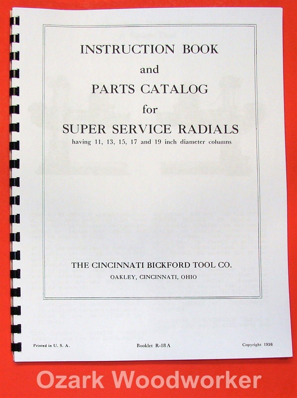 1 of 3FREE Shipping CINCINNATI Bickford Super-Service Radial Drill Operator  & Parts Manual 1938 0116 2 of 3 CINCINNATI ...