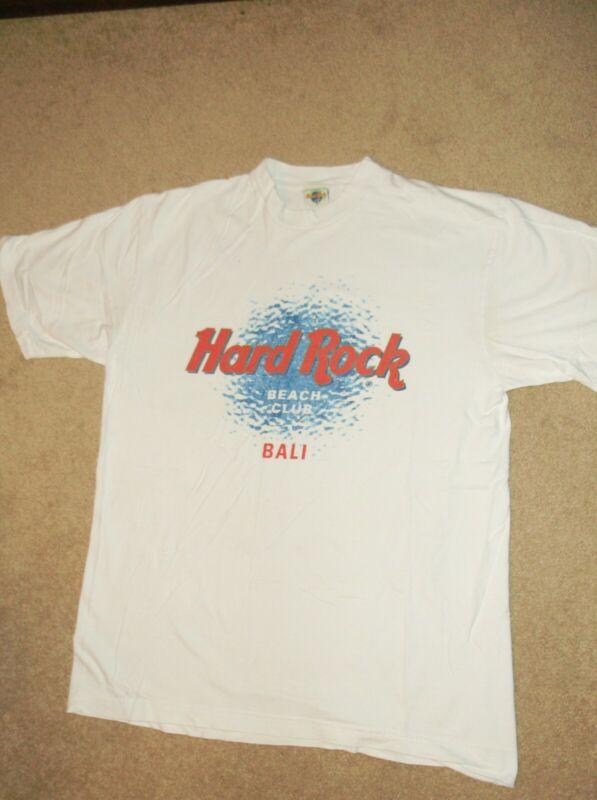 USED HARD ROCK CAFE BALI BEACH CLUB WHITE T SHIRT