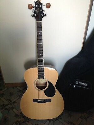 Samick OM-2N By Greg Bennett Design Acoustic Guitar With Yamaha Case