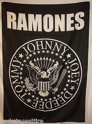 "Ramones Eagle Tommy Joey Johnny Deedee 29""X43"" Cloth Fabric Poster Flag-New!"