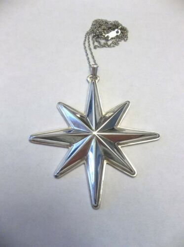 Reed & Barton Sterling Silver 1976 Christmas Star Ornament / Pendant