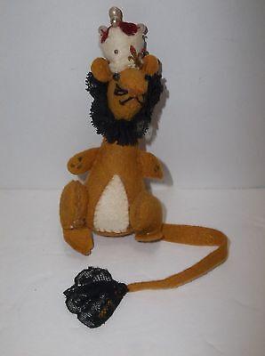 Vintage Felt LION Christmas Tree Ornament Hand Made