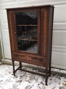 Lovely solid wood China cabinet
