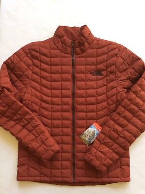 The North Face Men's Thermoball Full Zip Jacket Brandy Brown Matte Med NEW 2017