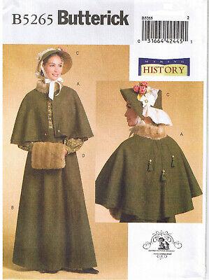 Viktorianisch Dickens Fair Umhang Rock Motorhaube Muff Kostüm - Kostüme Motorhaube