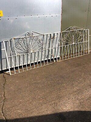 Pair Of Vintage Metal Ornate Gates Driveway/ Garden . Large