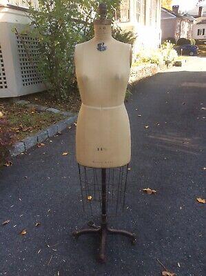 Vintage Jr Bauman Wolf Norma Model Dress Form Ny Size 14 12 Model 1949