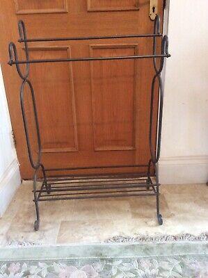 Vintage wrought Iron towel rail