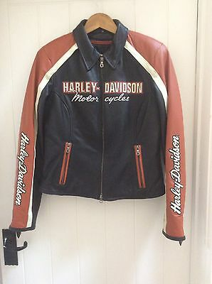 Used, Ladies Harley Davidson Leather Motorbike Jacket for sale  Shipping to South Africa