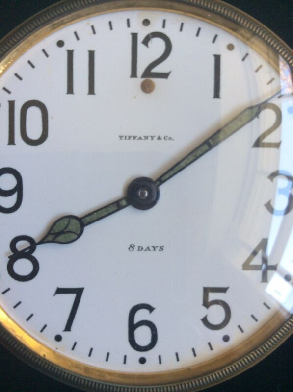 Waltham for Tiffany & Co. 8 Day Travel Clock 1912 Patent Date