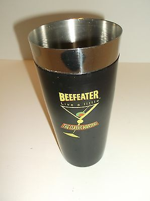 Vintage Beefeater Stainless Steel Martini Cocktail Shaker Barware Mixology~18 Oz