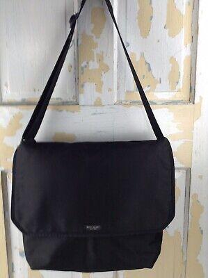 Kate Spade New York Black Medium Size Laptop Fold Over Messenger Bag