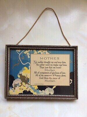 Vintage Retro Kitsch Art Deco Mother Picture 1920s 20s 1930s 30s