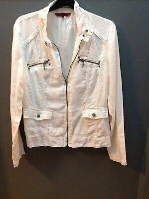 John By John Richmond @ Debenhams Size 12 Ladies Off White Linen 🌹 Jacket