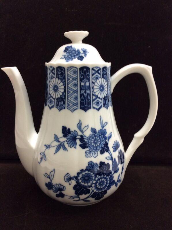 Vintage Japanese Blue Imari Porcelain Coffee Pot