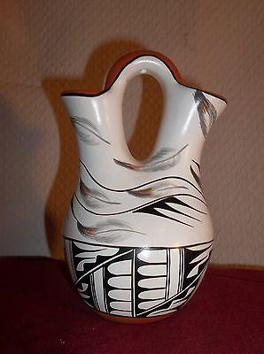 "Handmade Culture America Pottery Wedding Vase Signed E. Tafoya JEMEZ Pueblo 6.5"""