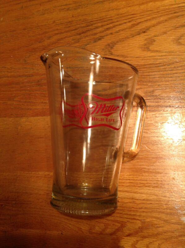 MILLER HIGH LIFE Heavy Glass Beer Pitcher