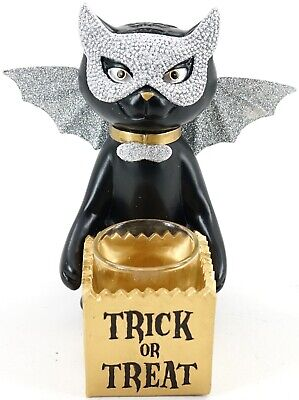 """New Yankee Candle Halloween Sophia The Cat """"Trick Or Treat"""" Votive Holder"""