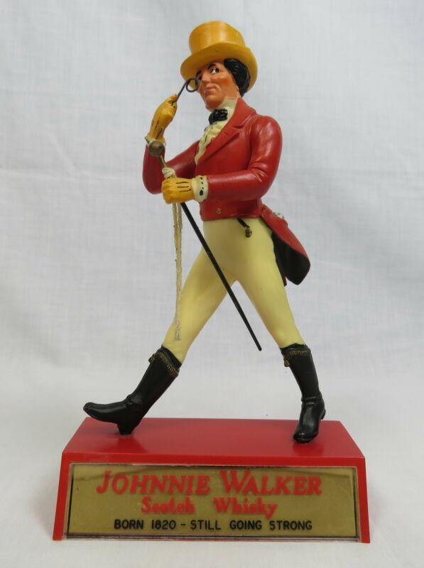 Vintage Johnnie Walker Scotch Whiskey Bar Figurine Striding Man w/Cane Monacle