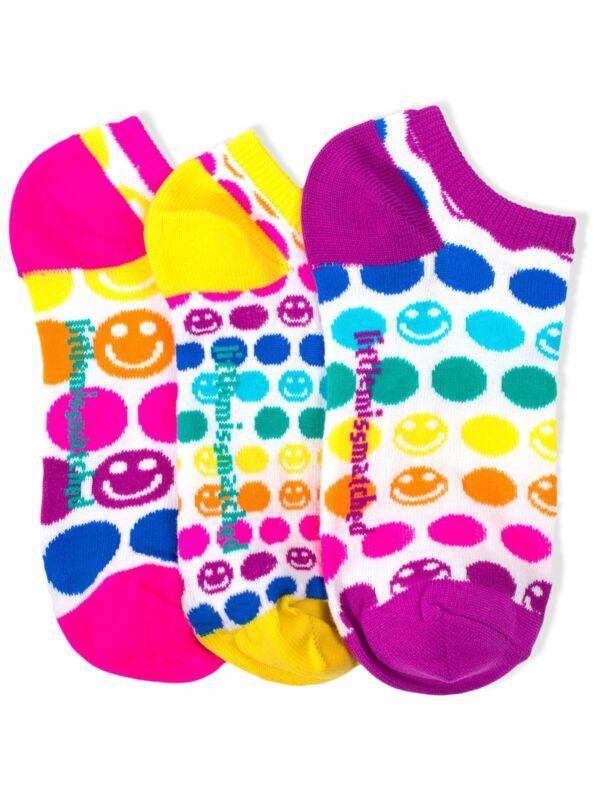 LittleMissMatched Smiley Dot Liner Socks - 3 Socks
