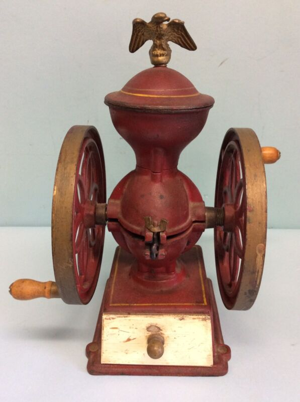 "John Wright Double Wheel Coffee Mill 12.25"""