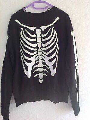 Halloween Skelett Pullover 152 Fasching - Skelett Halloween Kostüm Kind