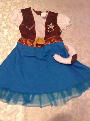 Disney Sheriff Callies costume dress plush stuff tail Size M 3T 4T New