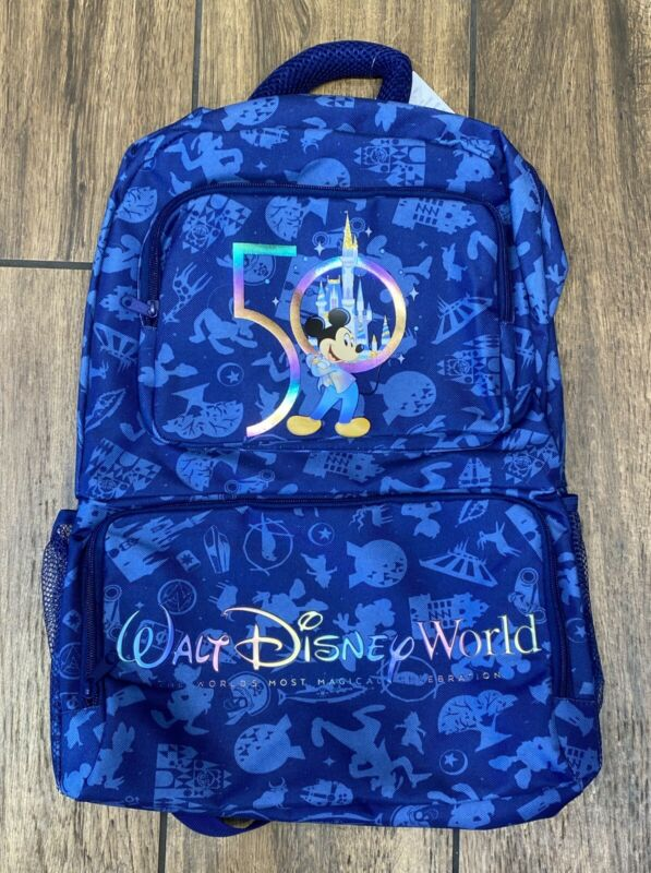 Walt Disney World 50th Anniversary Celebration Mickey Full Size Backpack NEW