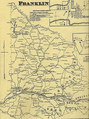 Murrysville Sardis Newlonsburg Export PA 1867 Map with Landowners Names Shown