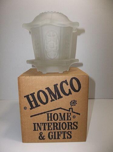 Vintage HOMCO Japanese Pagoda SATIN GLASS Fairy Lamp Glimmer Light MIB