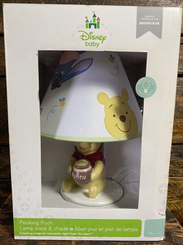 Disney Baby Peeking Winnie the Pooh Lamp And Shade Nursery Lamp 16x10 NEW