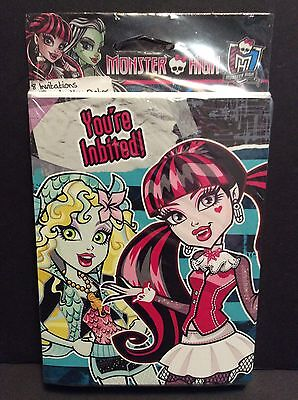 Monster High Birthday Party Pack 8 Birthday Invitations & 8 Thank You Postcards