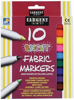 Sargent Art Bright Fabric Markers - 10 count