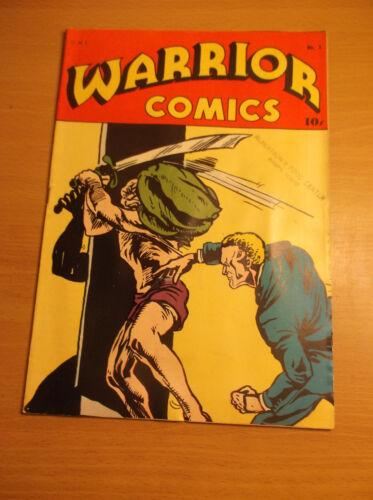 H. C. BLACKERBY: WARRIOR COMICS #1, SCARCE GERBER 8 GOLDEN AGE COMIC, 1945, VF-!