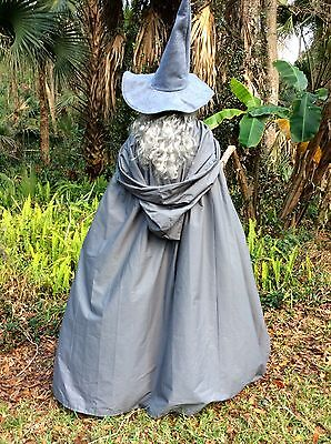 Gandalf The White Costume (Gandalf Costume Cape with Hood Hat Merlin Wizard Mage Hobbit Lord of the)
