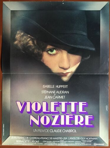 Poster Purple Nozière by Claude Chabrol Isabelle Huppert S.Audran