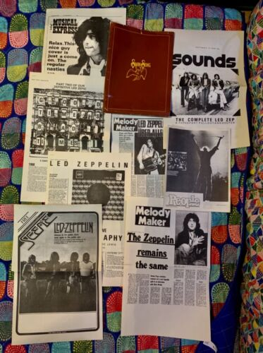LED ZEPPELIN - ORIGINAL PRESS KIT FROM LATE 1970s - SWAN SONG RECORDS