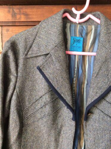 Christian lacroix jeans veste en tweed laine et cachemire