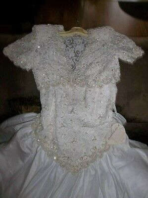 Sweetheart Gowns Beaded Sequin Wedding Bridal gown Sz 10 Jacket NWT