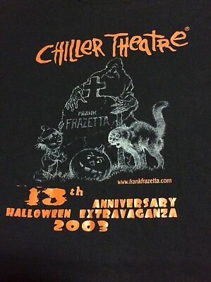 Chiller Theatre T-Shirt Fall  Expo 2003 Horror Movie VTG Monsters HALLOWEEN gore