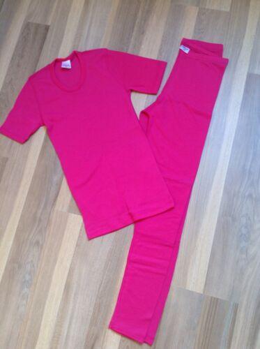 NEU! Mädchen Thermo Unterwäsche Shirt und Hose, Gr. 152 rosa