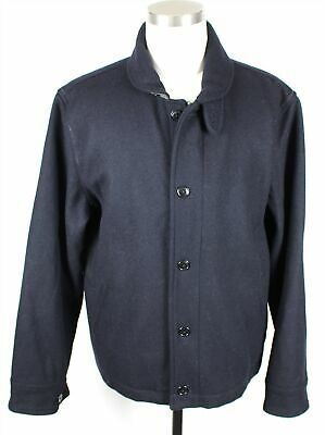 NEW Wallace & Barnes J.Crew Full Zip Wool Deck Jacket MENS XL Black